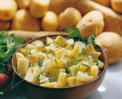 salada de batata com vinagre
